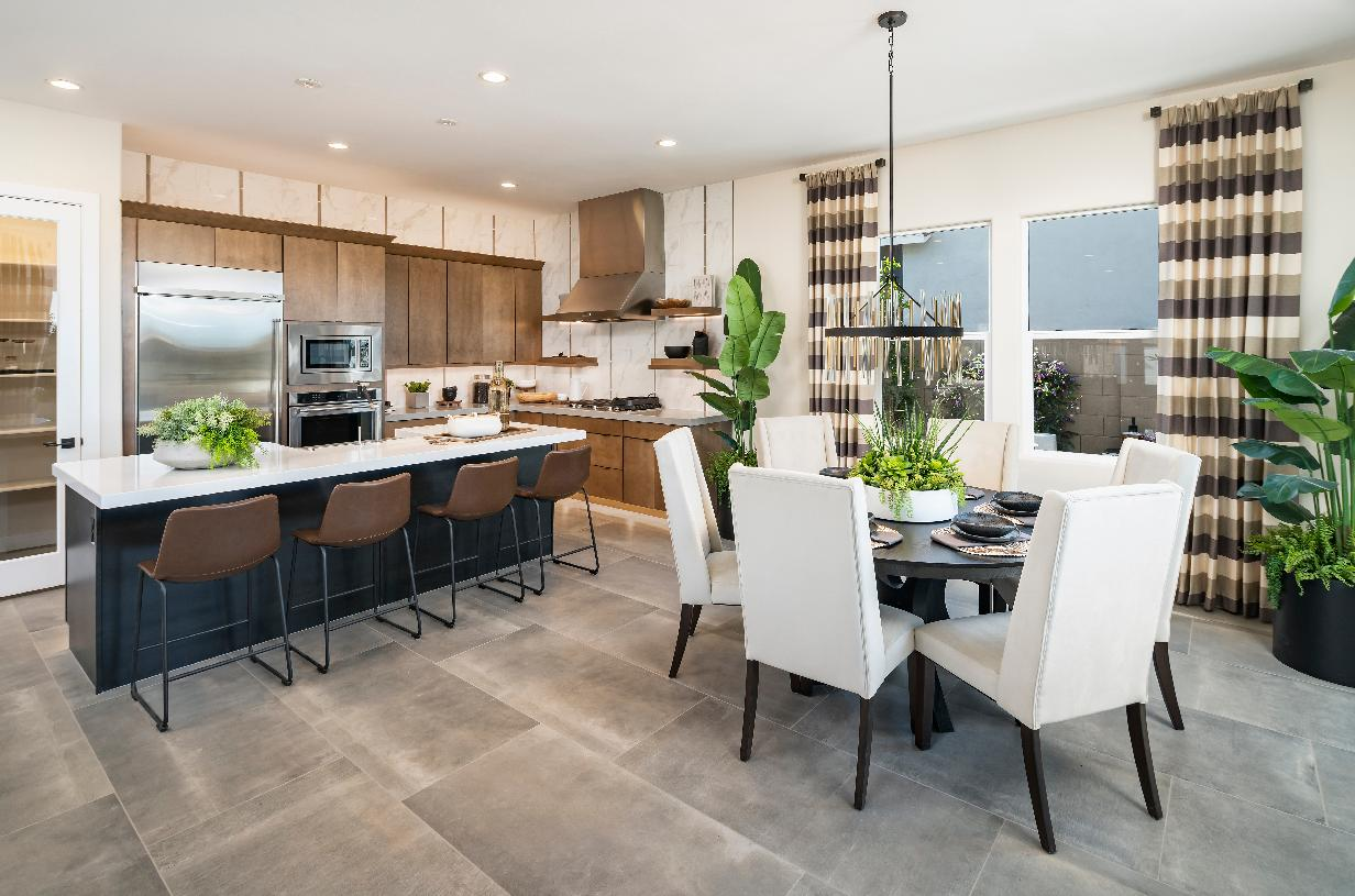 Open kitchen and casual dining area perfect for entertaining
