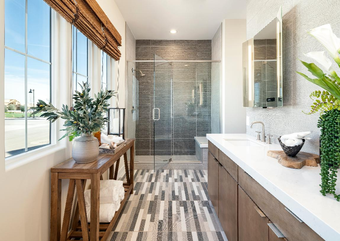 Spa-like primary bath with large walk-in shower