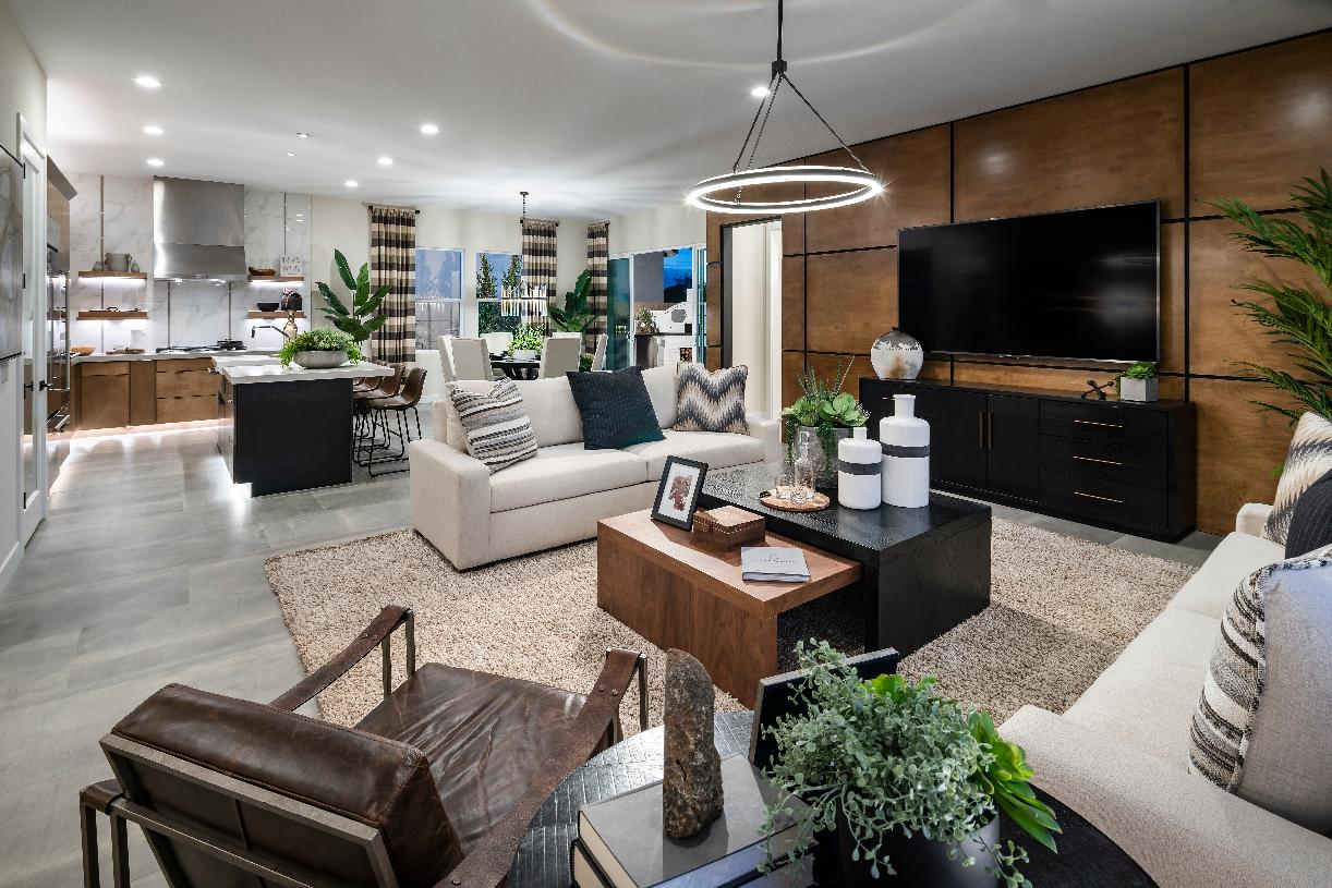 Versatile single-level floor plan with open concept great room, kitchen, and dining