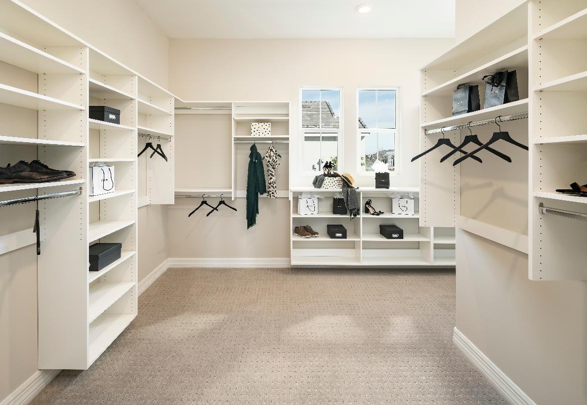 Oversized primary walk-in closet