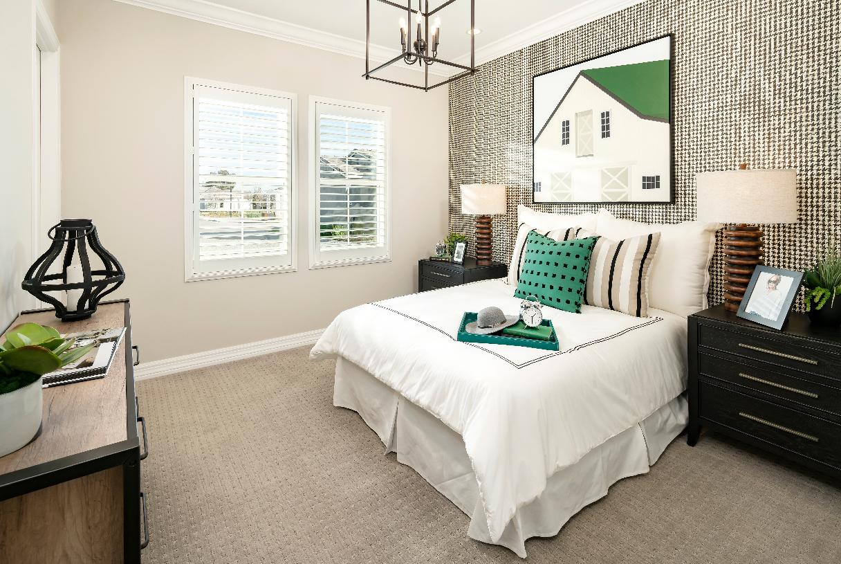 Spacious secondary bedroom with private bath and walk-in closet