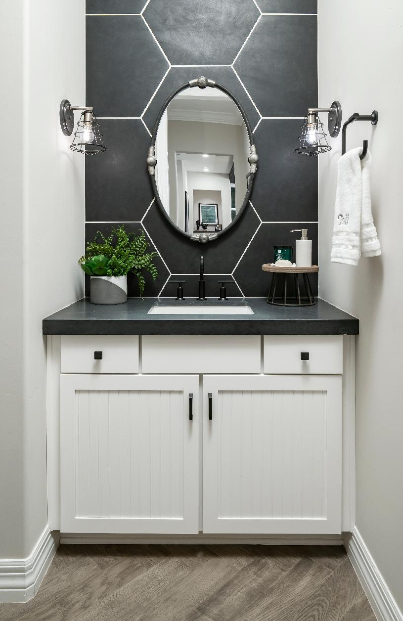 Powder room perfect for guest