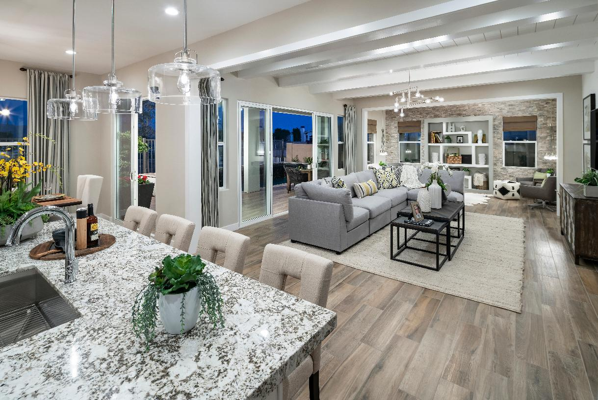 Open concept kitchen and great room, perfect for entertaining
