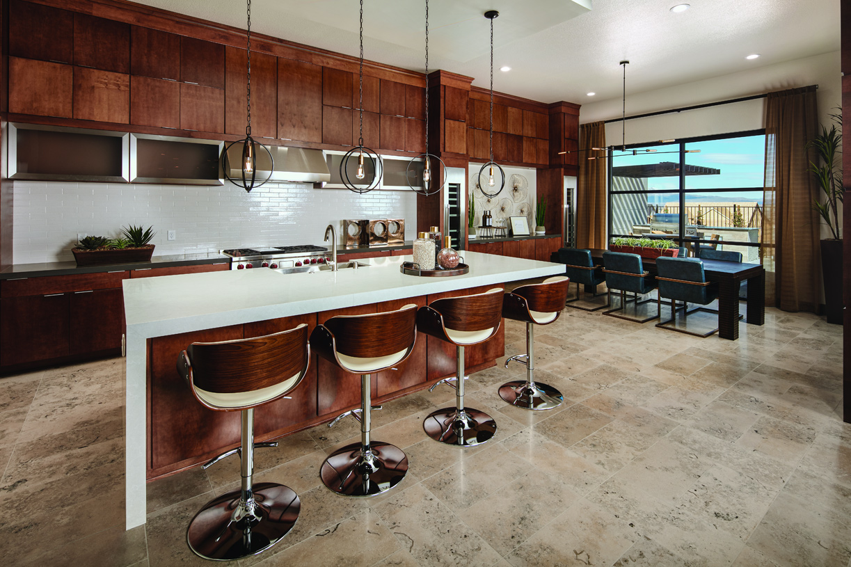 Baldwin gourmet kitchen and dining room