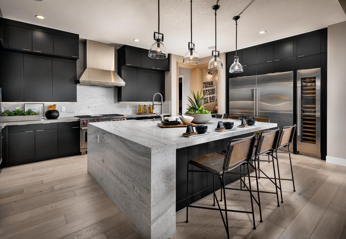 Well-designed gourmet kitchen