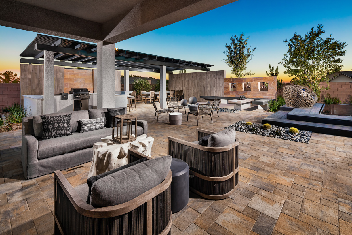 Desirable covered patio