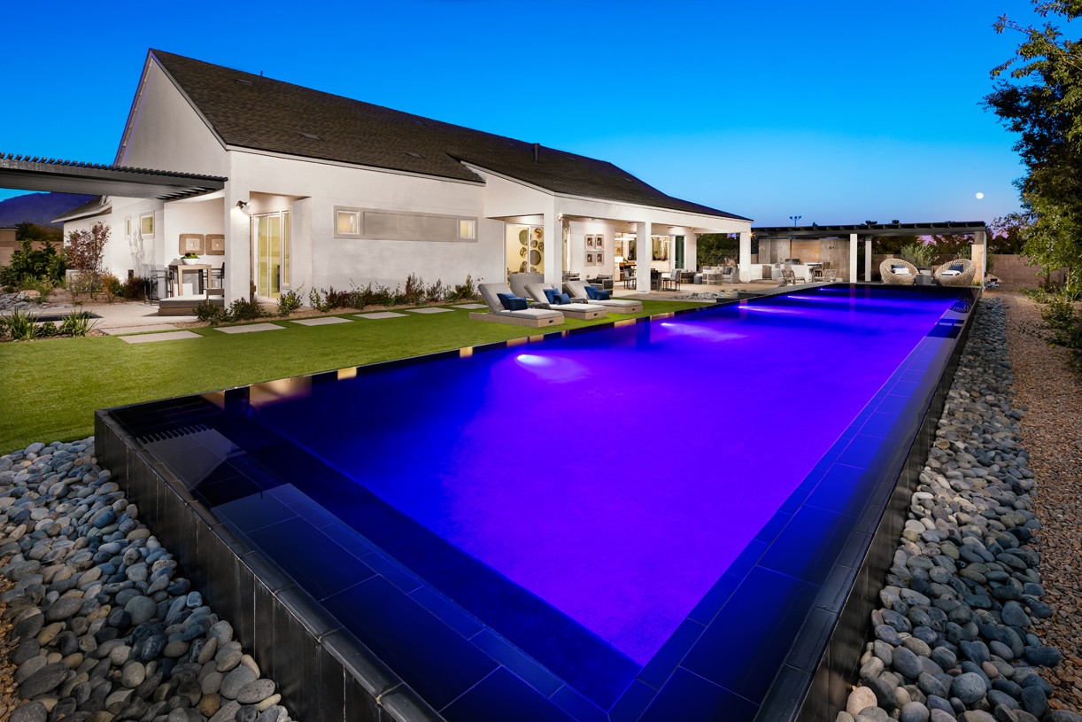 Gorgeous outdoor living space with pool