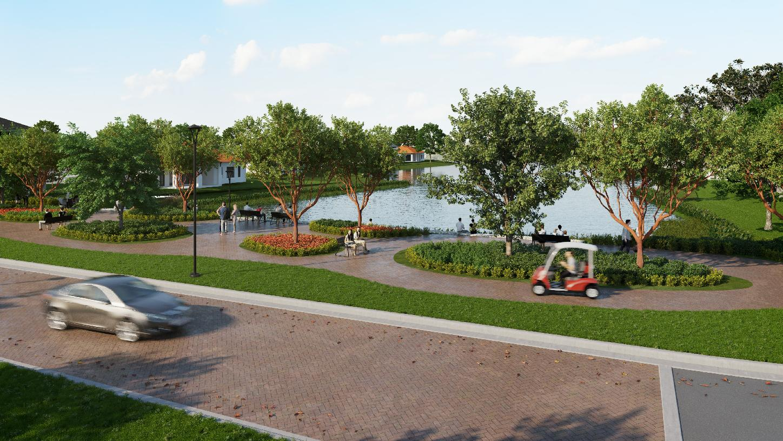 Avenir will feature wide golf cart paths throughout the master plan
