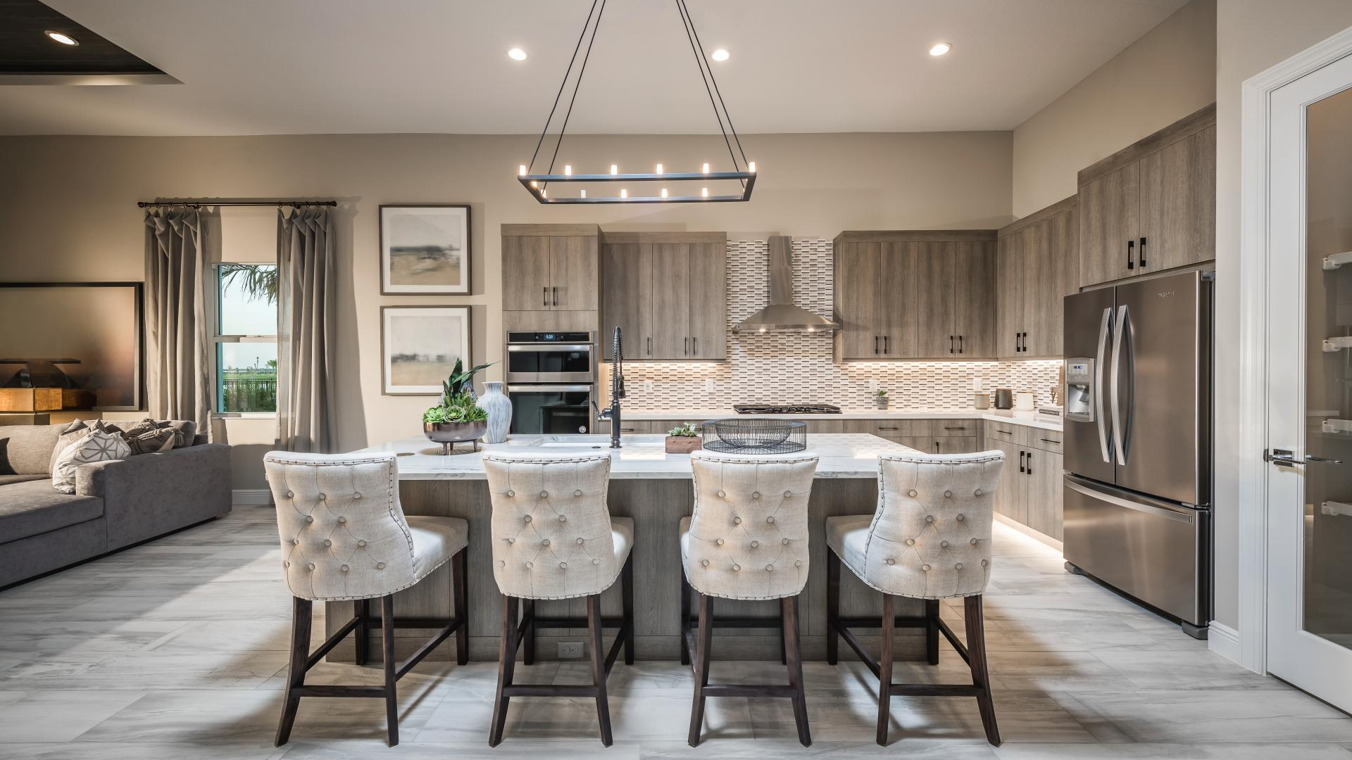 Spacious modern kitchens with abundant storage