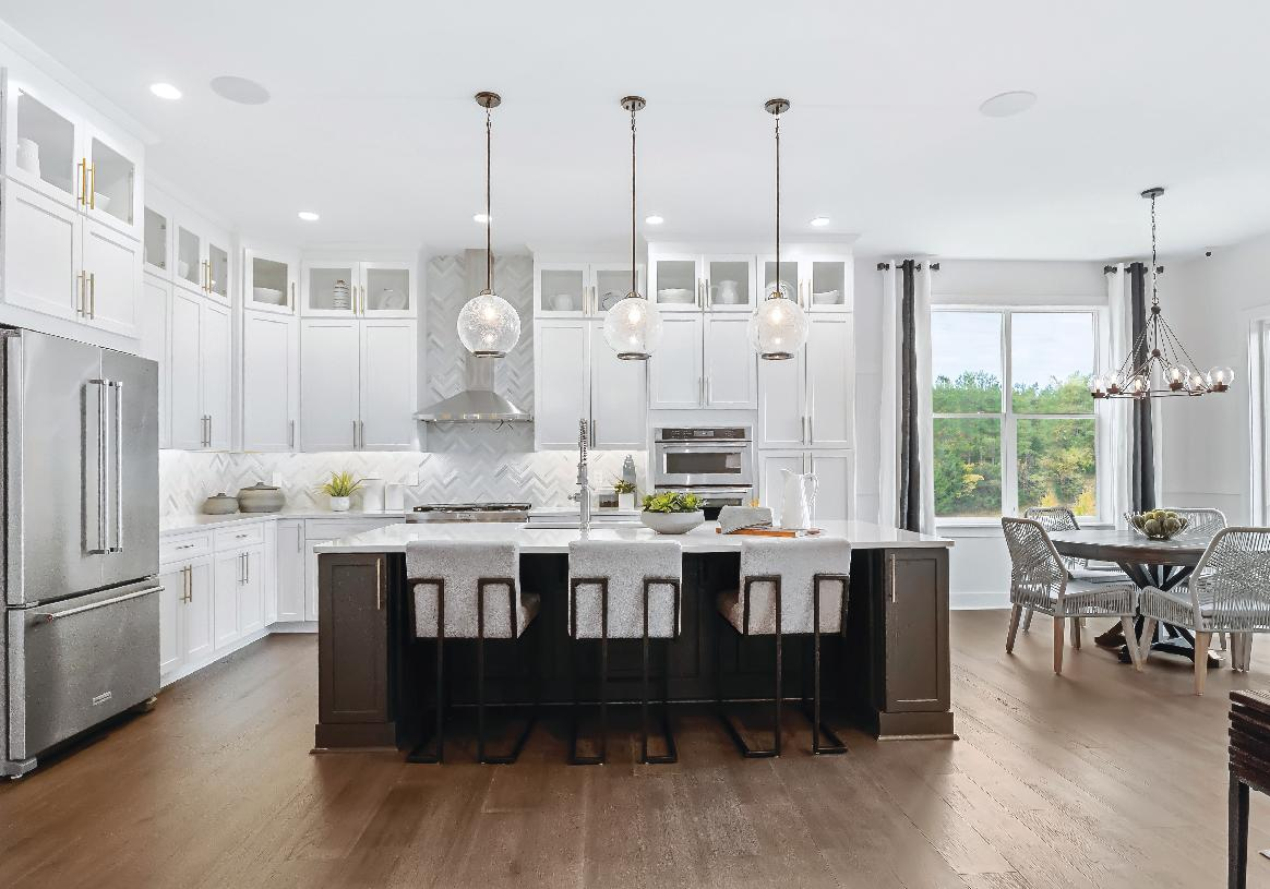Expanded island and cabinets available with the Alternate Kitchen Layout