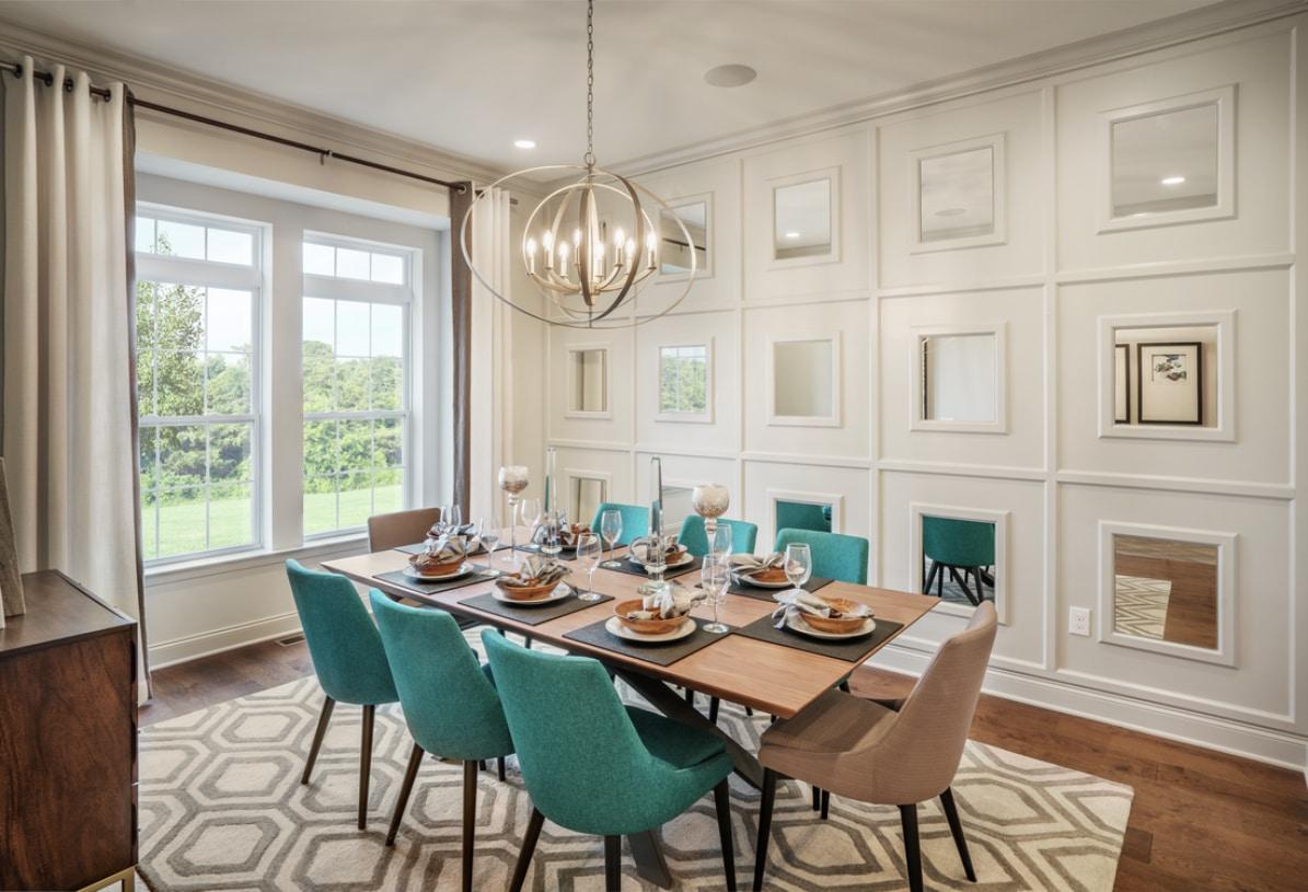 Formal gracious dining room for seasonal entertaining