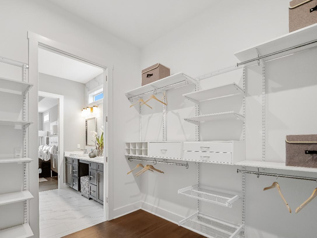 Large walk-in closet with alternate primary bedroom suite option