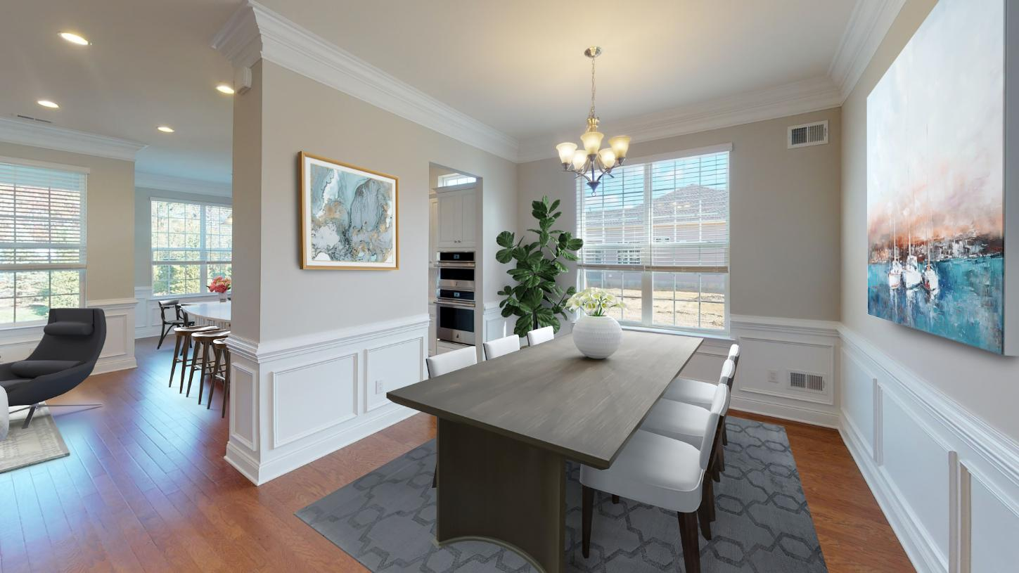 Formal dining room perfect for seasonal entertaining