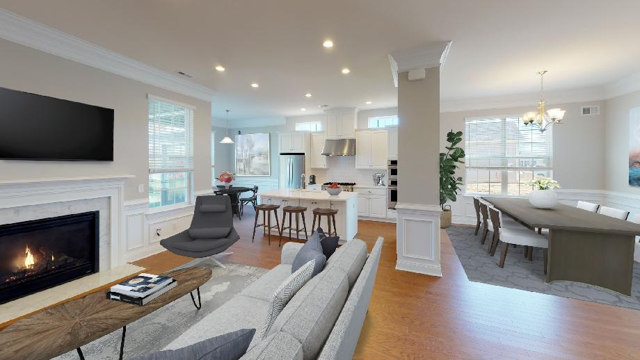 Expansive ranch design with spacious great room