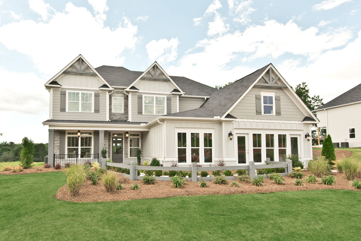 The beautiful Winthrop II model home provides indoor and outdoor living spaces perfect for entertainin