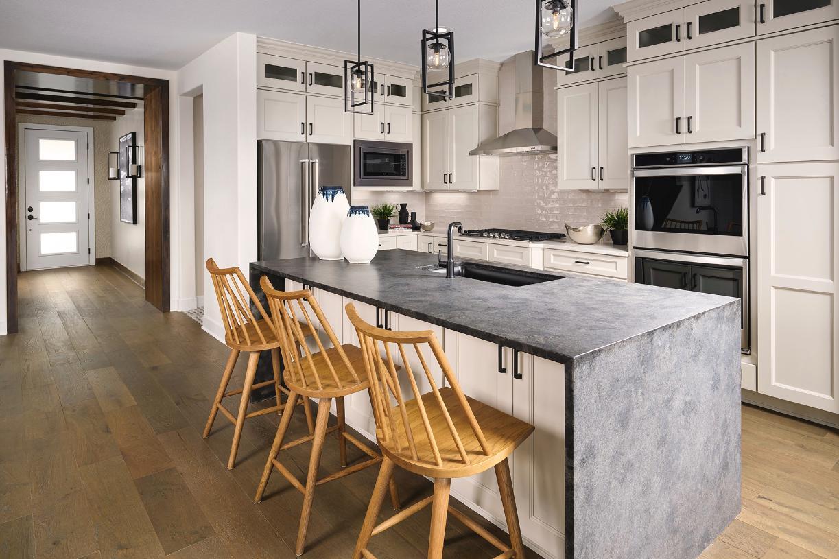 Haywood kitchen with center island