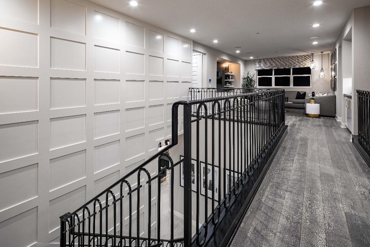 Hallway to loft