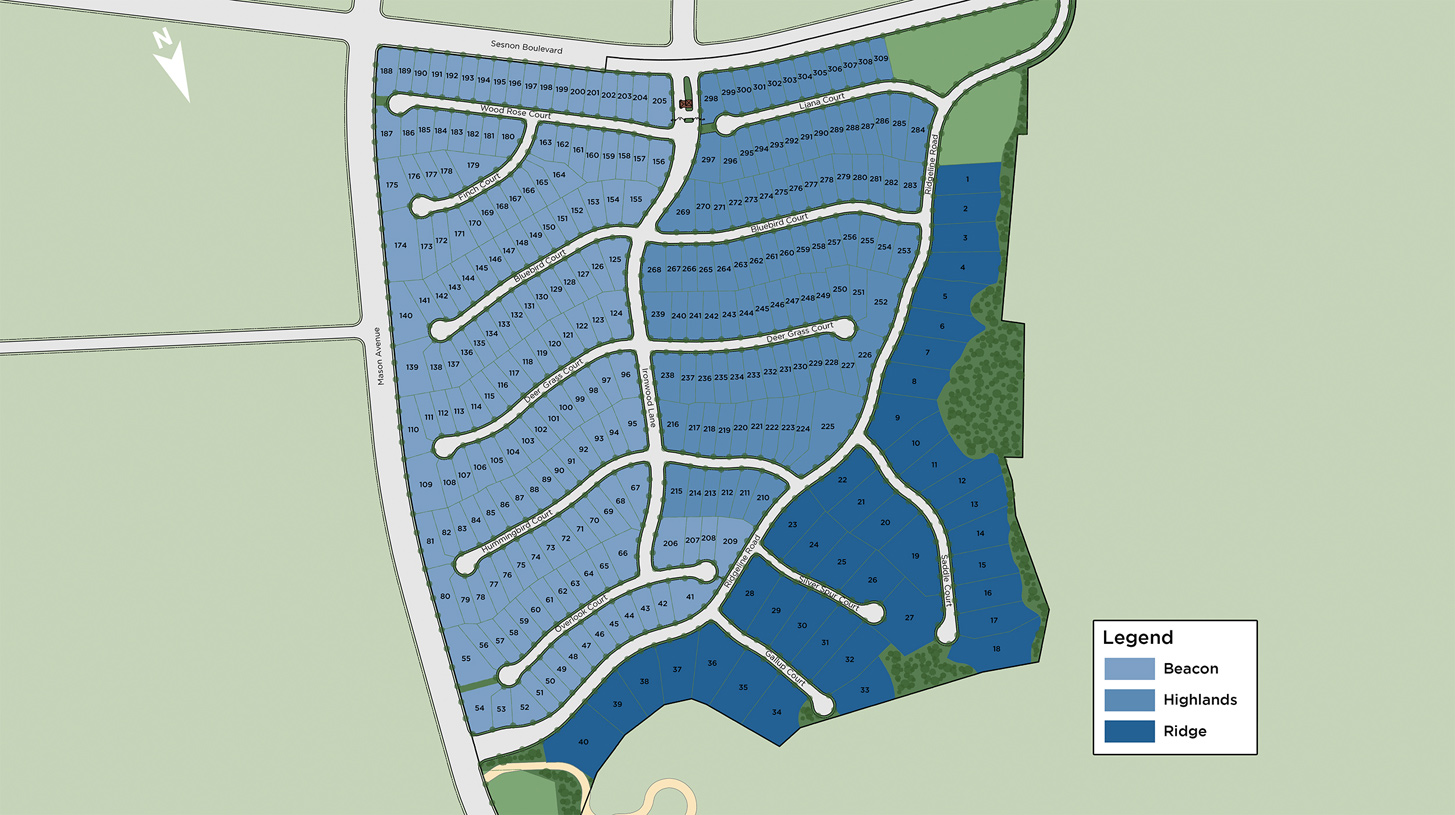 Hillcrest at Porter Ranch - Highlands Collection Overall Site Plan