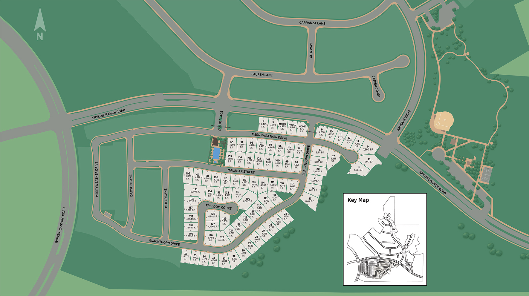 Victoria at Plum Canyon Site Plan