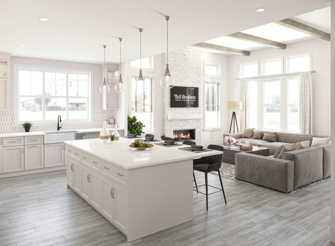 Flowing floor plans with beautiful luxury details