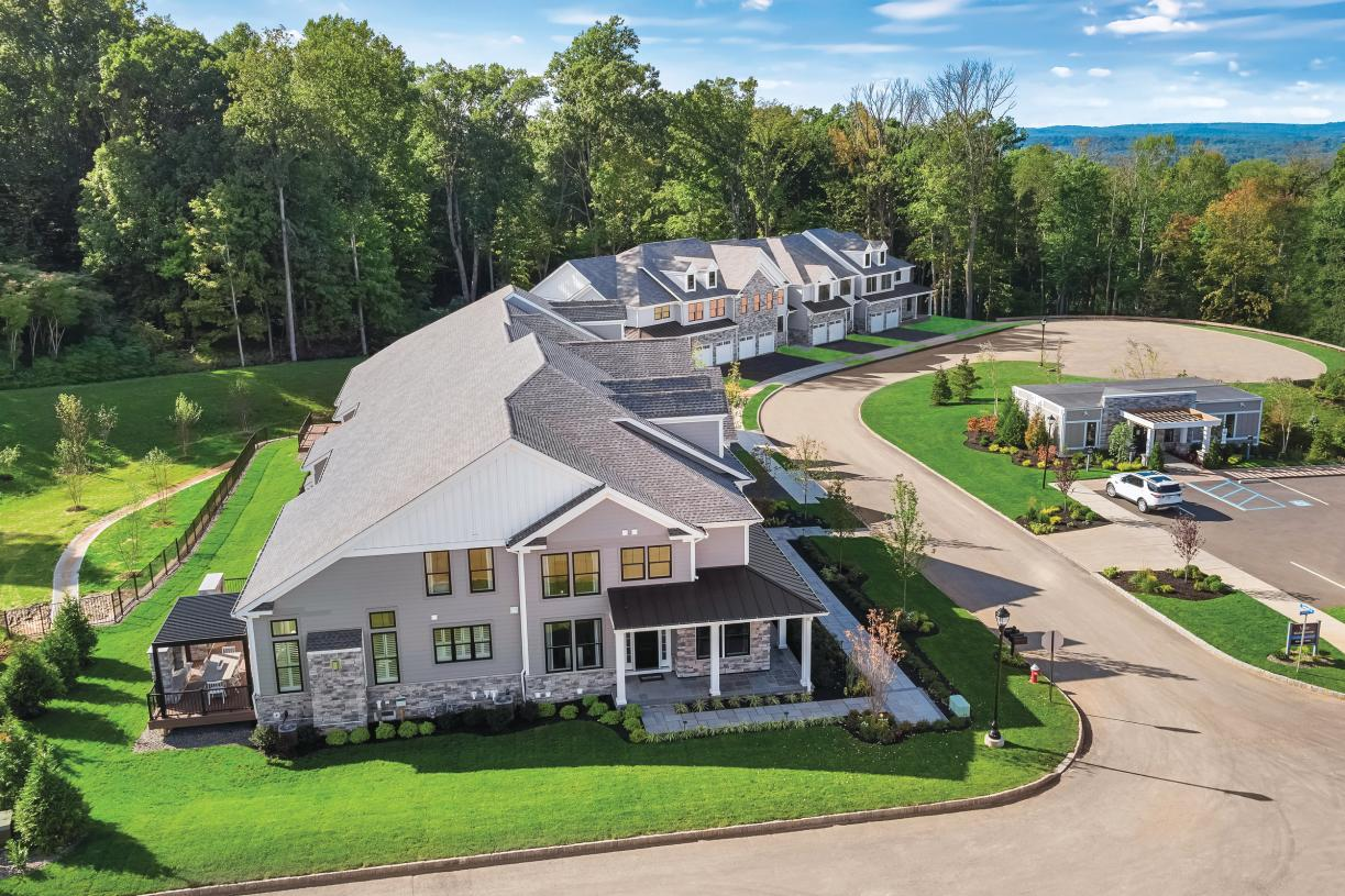 Aerial view of Amberley model home entry