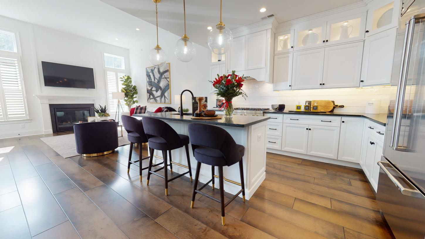 The spacious kitchen of the Amberley