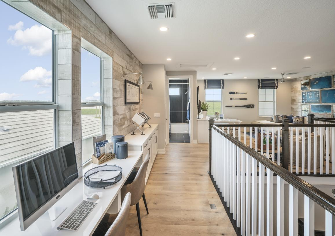 Large loft with room for work or school from home