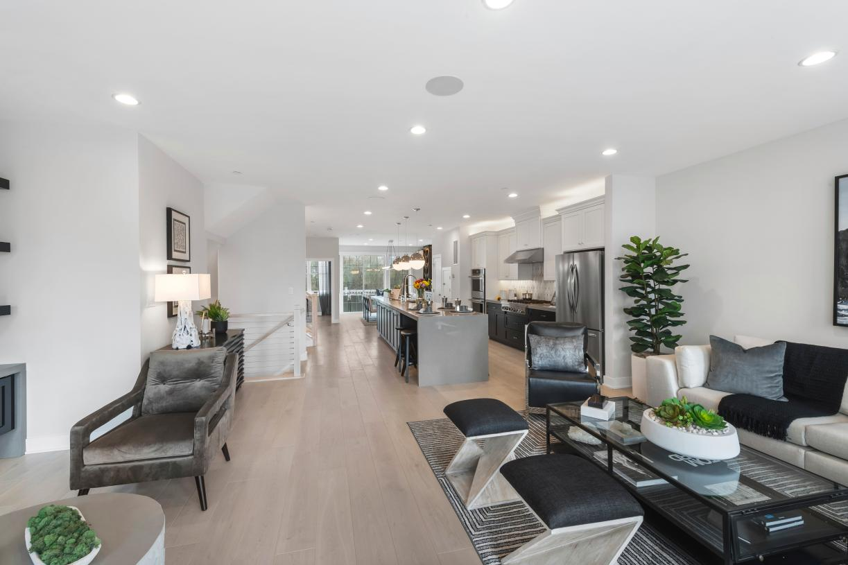 Open floor plan design makes for a great entertaining space in the Briercliff