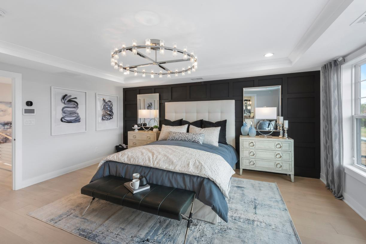 A private retreat in the Briercliff's primary bedroom suite