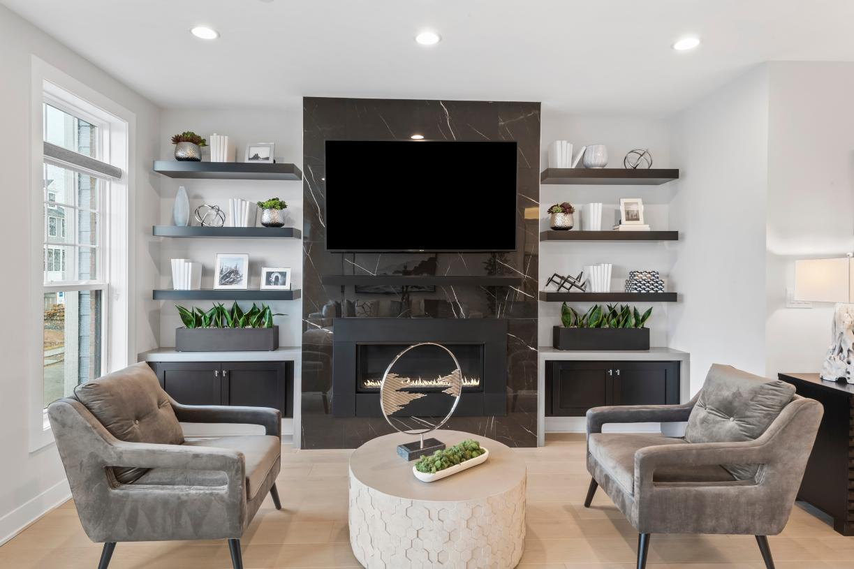 Briercliff living room fireplace