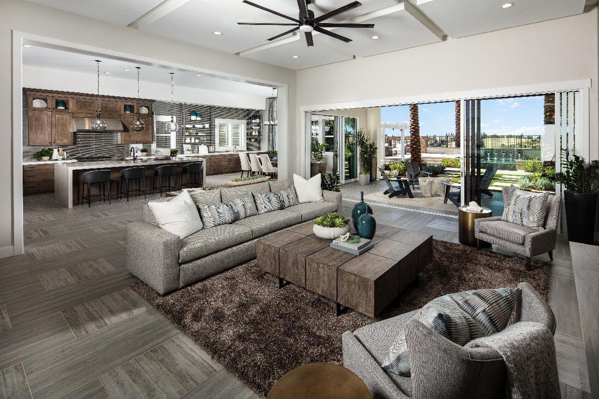 Open floor plans maximize views