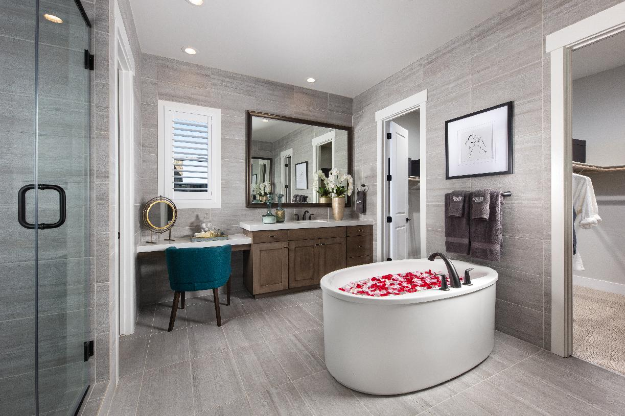 Luxury primary bedroom suites