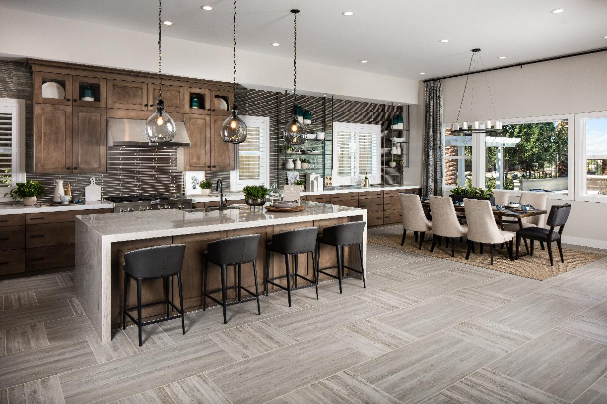 Gourmet kitchen and informal dining area