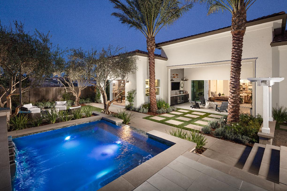 Luxury outdoor living space and pool