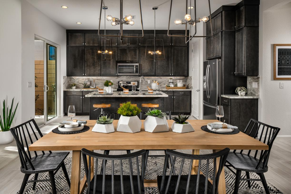 Well-appointed kitchen with spacious dining area