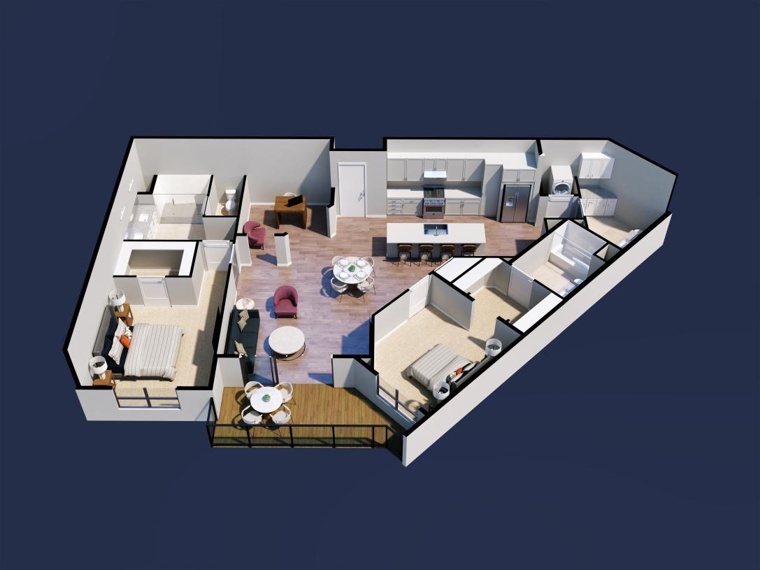 Amethyst home design 2D floor plan