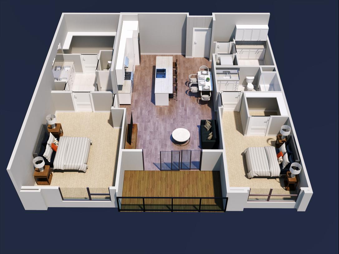Emerald home design 2D floor plan