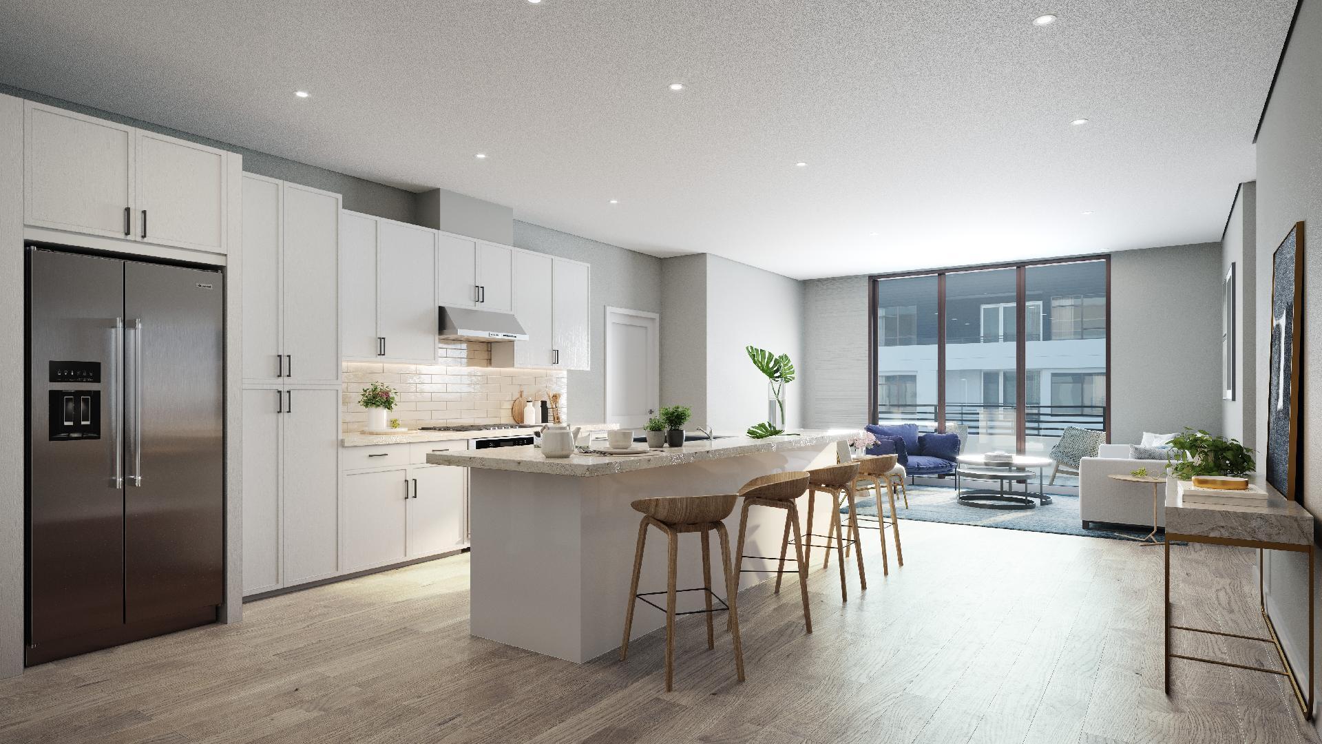 Emerald home design spacious open kitchen layout