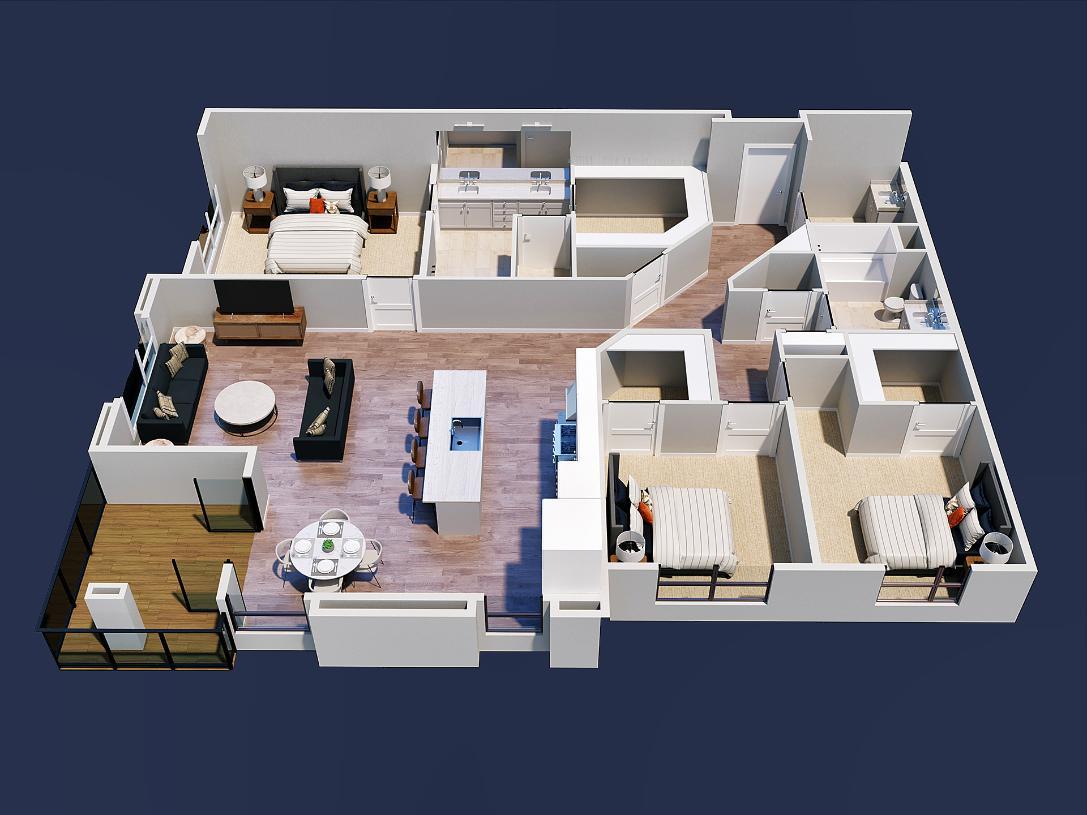 Pearl home design 2D floor plan