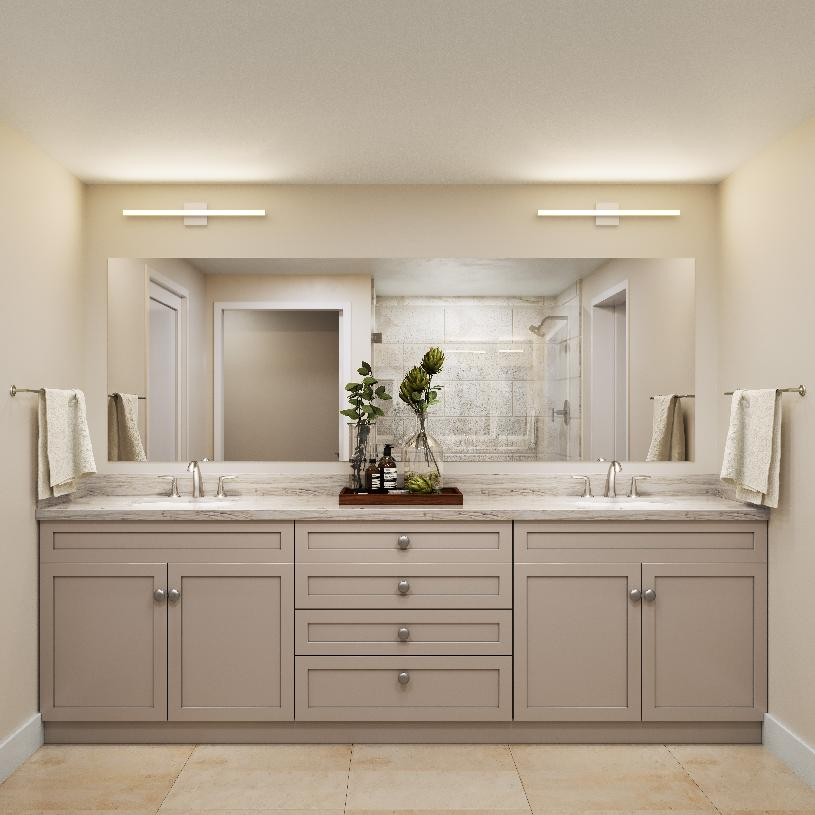 Dual sink vanities and walk-in closets in every primary suite