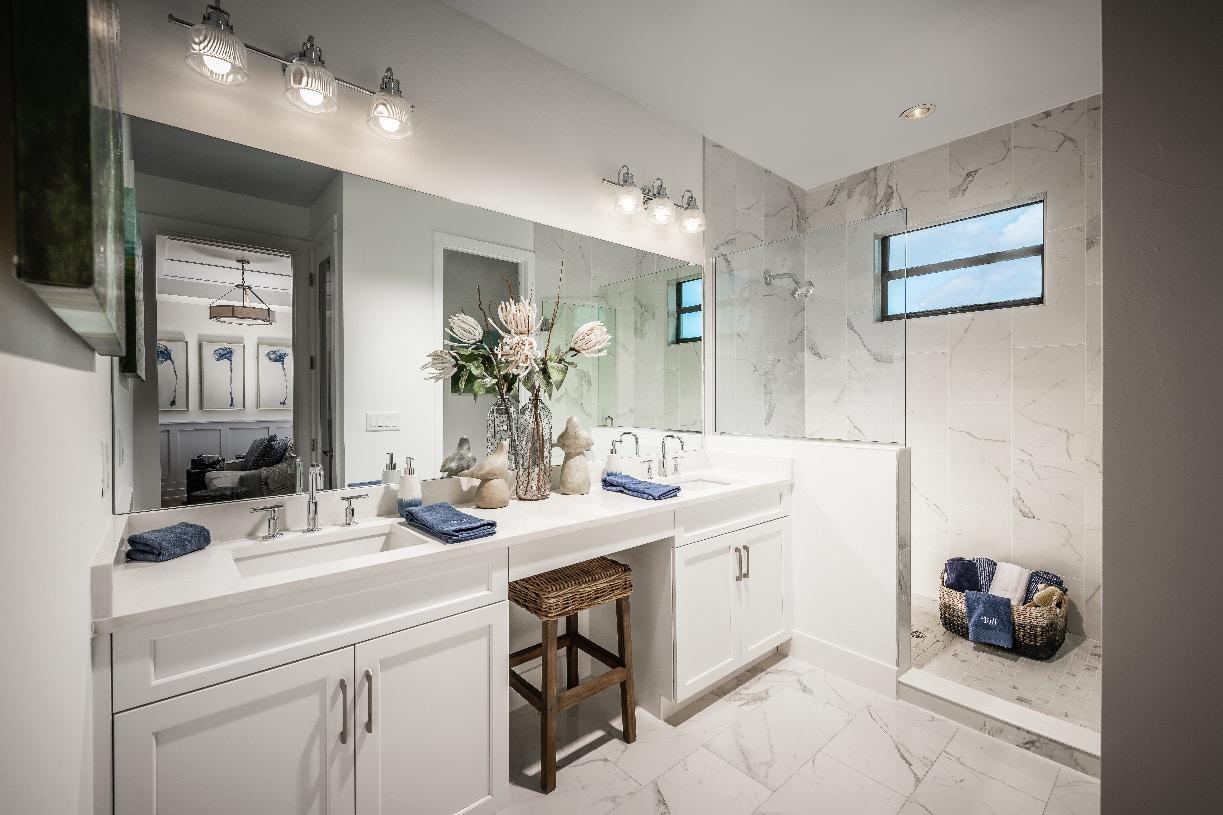 Spa-like primary bathroom