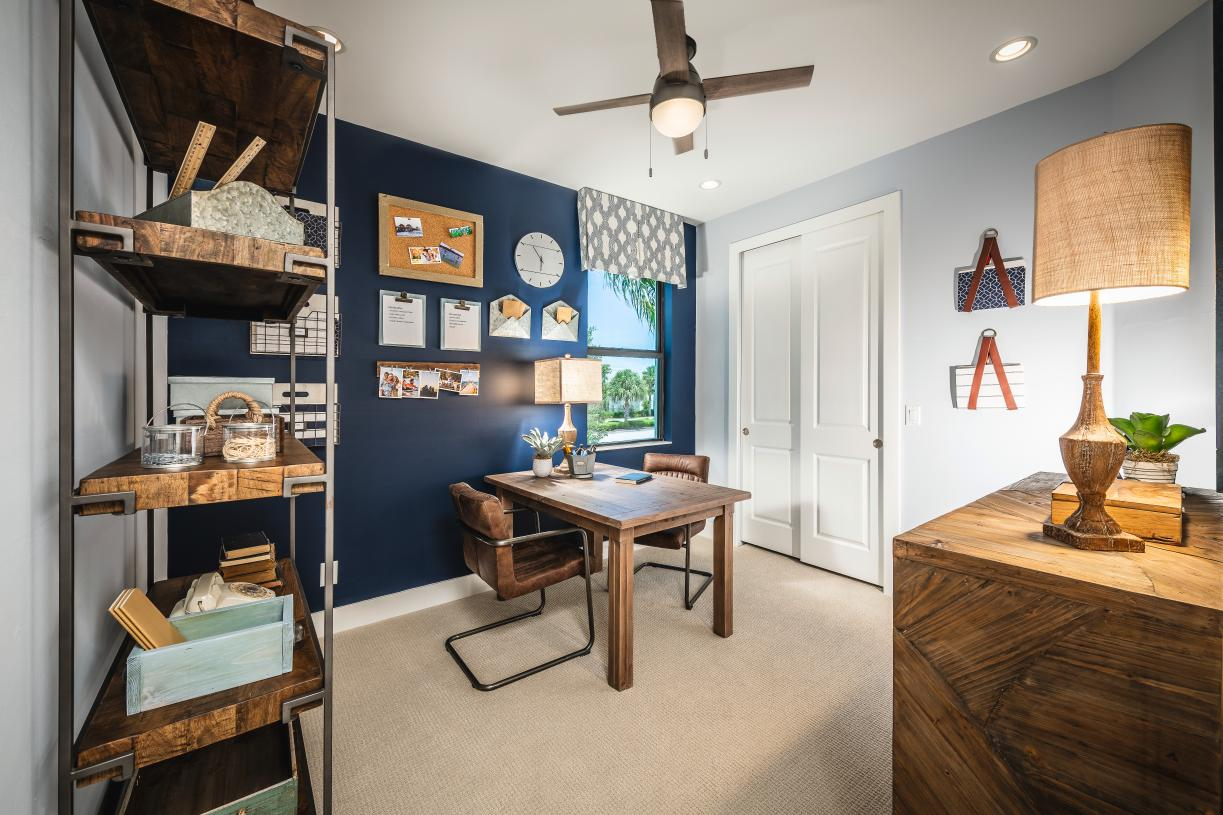 Secondary bedroom utilized as an office