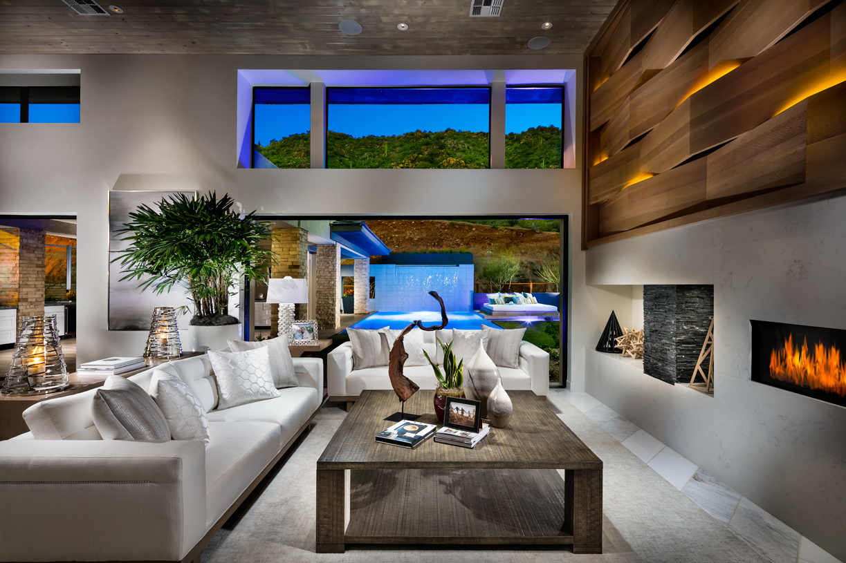 Expansive great rooms with multi-slide doors for optimal outdoor living