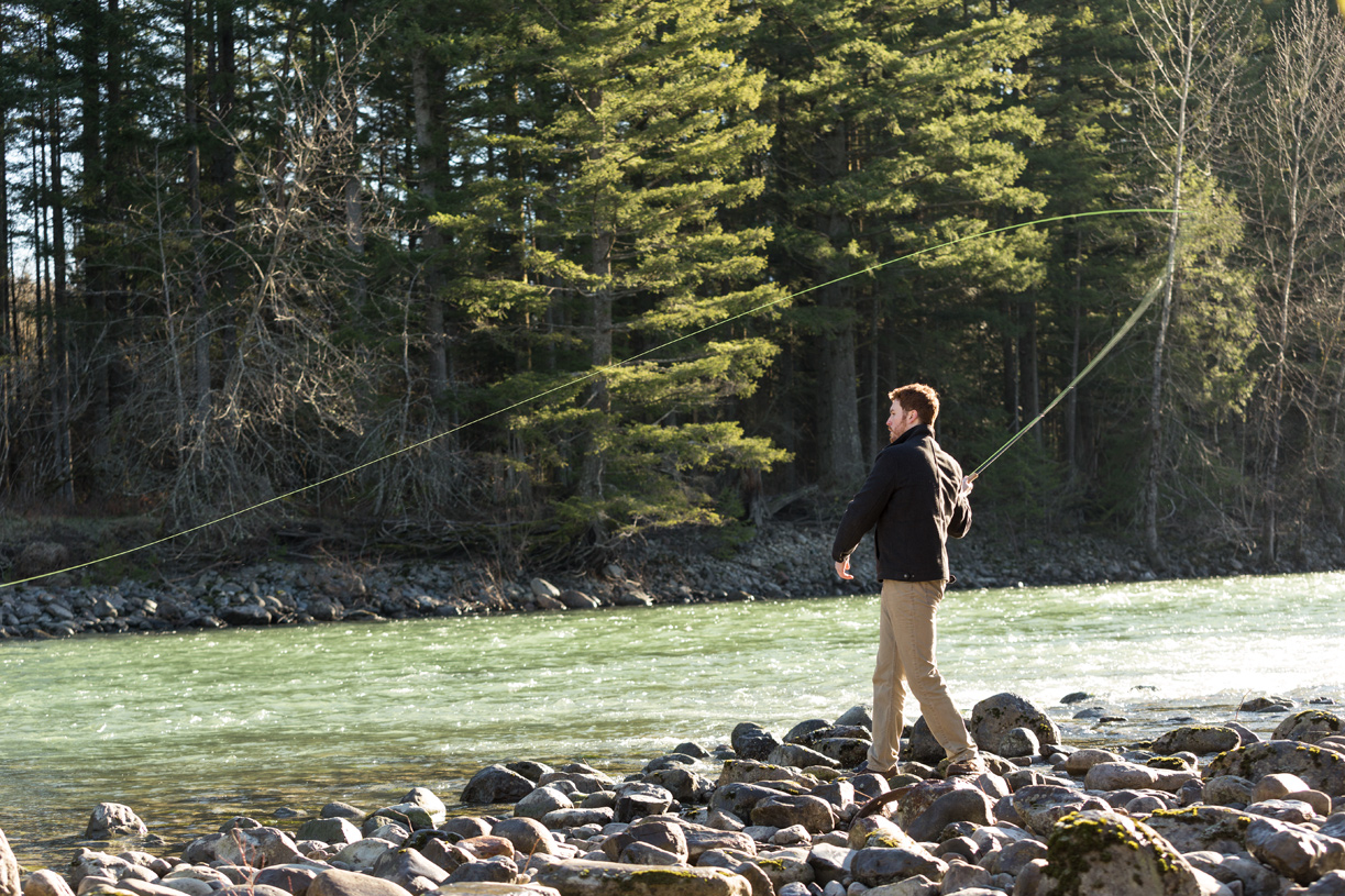 Fly fishing on the Snoqualmie River is right outside your door