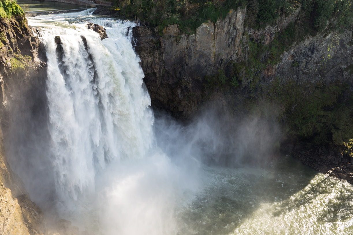 Iconic Snoqualmie Falls and the  luxurious Salish Lodge is just a 15-minute drive