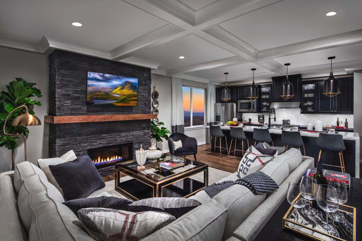 Great room with cozy gas fireplace