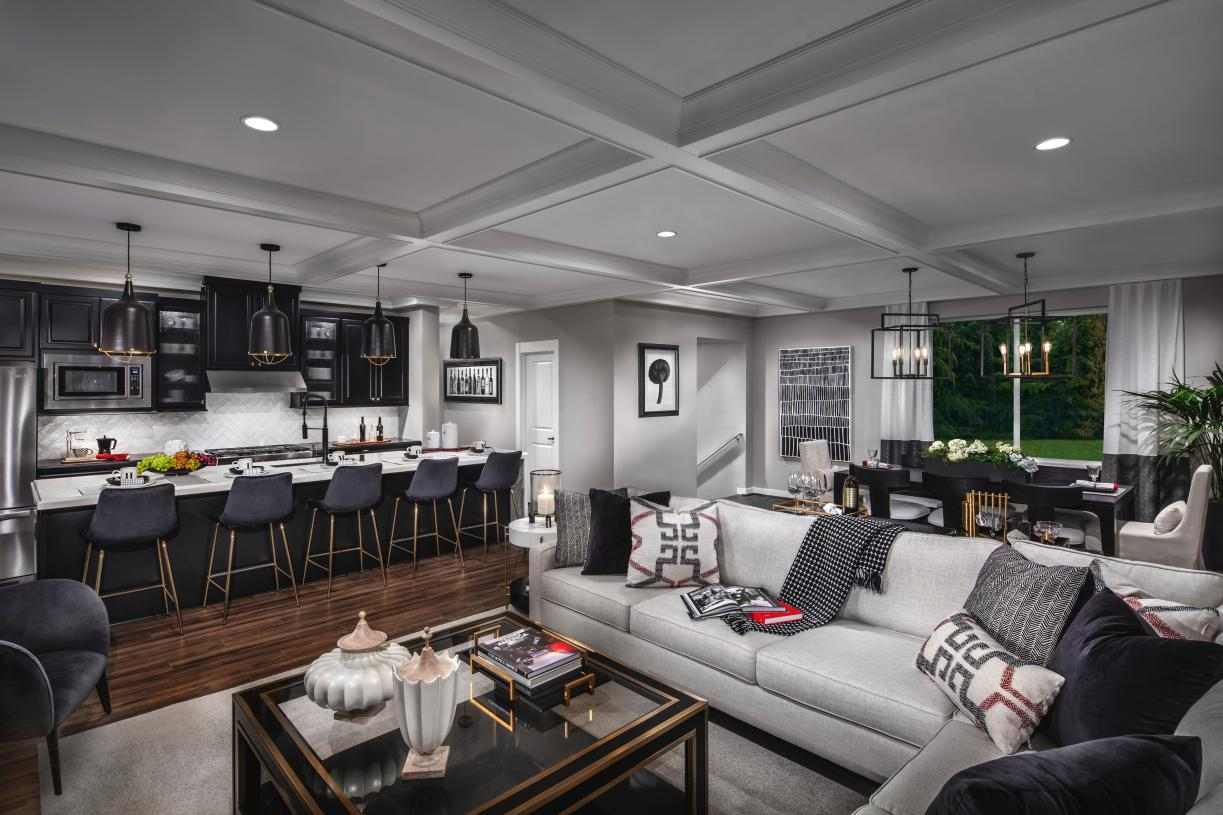 Open-concept great room is ideal for entertaining