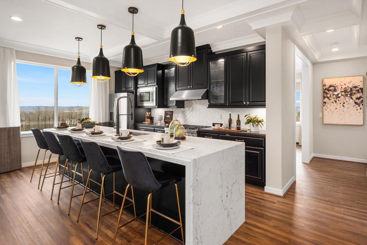 Kitchen offers plenty of storage space