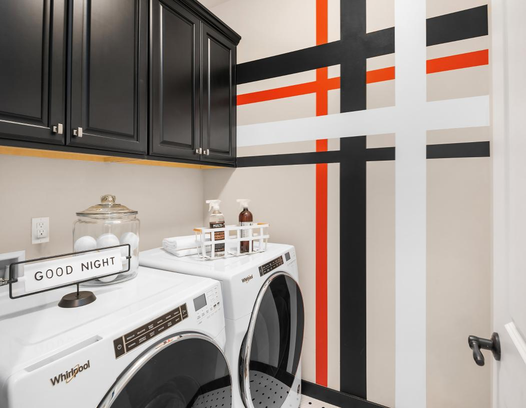 Laundry room centrally located close to the bedrooms