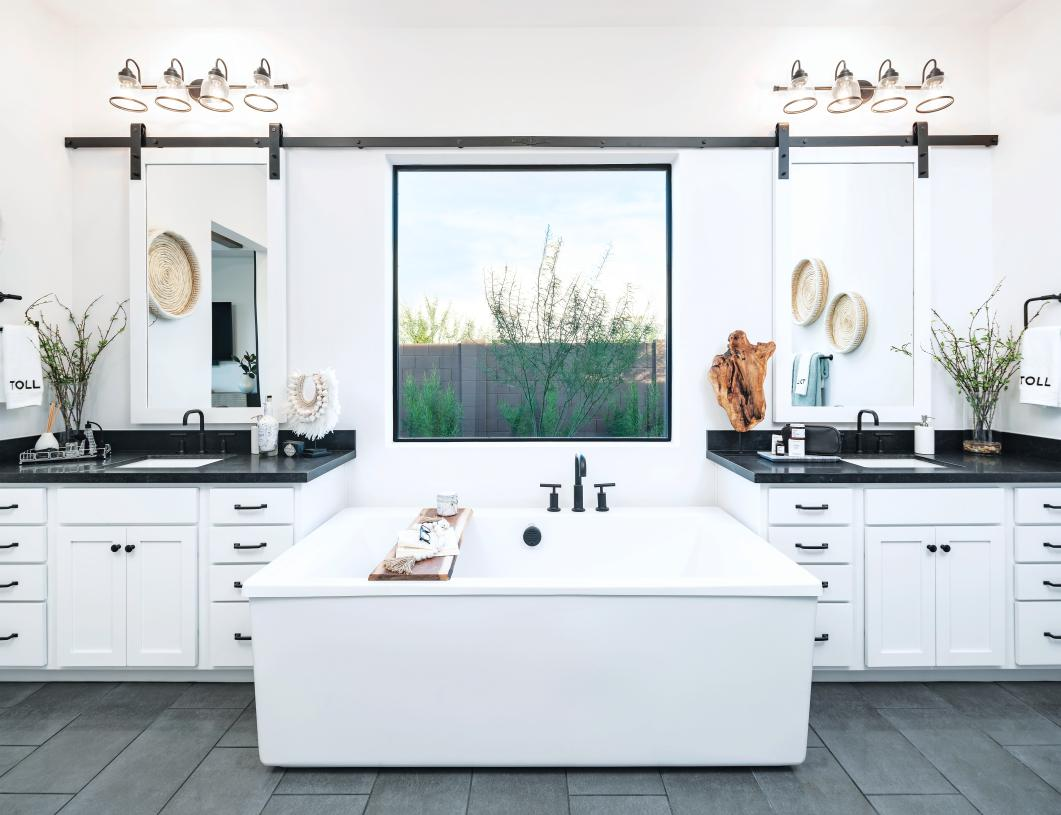 Lavish primary bathrooms for relaxation